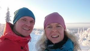 """Selfie efter 1 h """"klättring"""""""